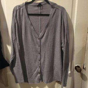 Out From Under Jojo Oversized Thermal Button Top